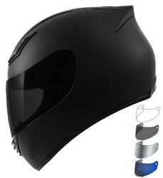NEW Motorcycle Helmet DOT Full Face Matte Black + SHIELD OPTIONS - S M L XL XXL $89.99