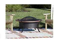 37.4-in W Portable Outdoor Antique Bronze Steel Bowl Wood-Burning Dome Fire Pit