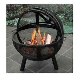 Patio Fire Pit Steel Ball 30
