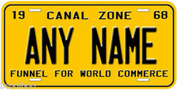 Panama Canal Zone 1968 Any Name Number Novelty Car License Plate $17.90