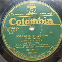 James J. Mullan - COLUMBIA 33324-F - I Don't Work for a Living