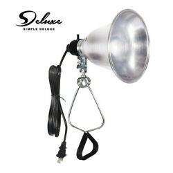 Simple Deluxe Clamp Lamp Light with 5.5 Inch Aluminum Reflector up to 60W E26 $11.95