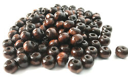 1000 pcs Brown Wood Beads 8mm Bead Jewelry Making Wooden Tool round Craft 4x