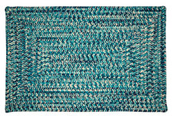 Catalina Indoor Outdoor Rectangle Braided Rug Blue Lagoon ~ Made in USA