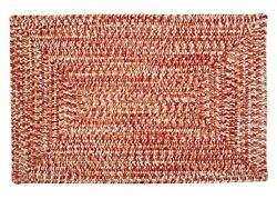 Catalina Indoor Outdoor Rectangle Braided Rug Fireball ~ Made in USA