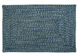 Catalina Indoor Outdoor Rectangle Braided Rug Deep Sea ~ Made in USA