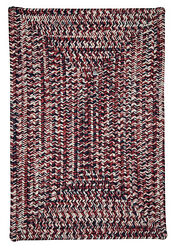 Corsica Indoor Outdoor Rectangle Braided Rug Patriotic ~ Made in USA