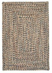 Corsica Indoor Outdoor Rectangle Braided Rug Lake Blue ~ Made in USA