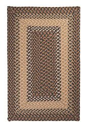 Tiburon Indoor Outdoor Rectangle Braided Rug Stone Blue ~ Made in USA
