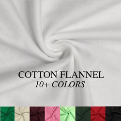 Cotton Flannel Fabric 45quot; Wide Soft Warm Comfy 10 Colors By The Yard $6.99
