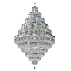 Large Foyer Entryway Crystal Chandelier French Empire Gold Crystal Chandeliers $1215.90