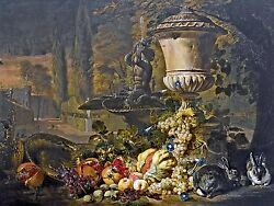 STILL LIFE FRUIT rabbit D. DE CONINCK Tile Mural Backsplash Art Marble Ceramic