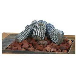 Fire Pits Lava Rock and Log Kit Heating Fireplace Home Outdoor Patio Backyard