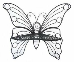 Hi-Line Gift Garden Décor Butterfly Chair 45 by 24 by 42-Inch Antique Black