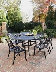 Home Styles 5554-338 Biscayne 7-Piece Outdoor Dining Set Black Finish