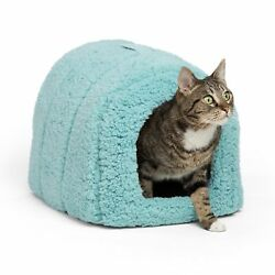 Best Friends by Sheri Pet Igloo Hut Sherpa  Ilan  Lux - Cat and Small Dog B...