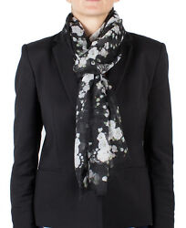 New Auth Givenchy Women's Floral Pattern Cashmere Scarf Large
