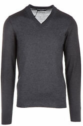 DOLCE&GABBANA MEN'S V NECK JUMPER SWEATER PULLOVER NEW GREY 2AE