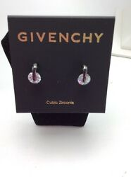 $25 Givenchy Hematite Tone Cubic Zirconia Mini Drop Earrings #36 GE $21.35