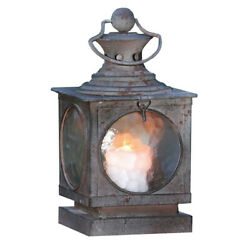 Metal Square Hanging Candle Lantern Curved Glass Insert $44.09