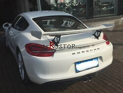FRP FIBER GLASS GT4 STYLE GT WING FOR 2012-2015 CAYMAN 981.1