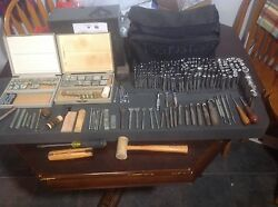 Vintage Craftool Co. Leather Tools and Stamps Set over 300 Pieces