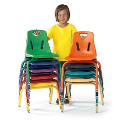 Berries Stacking Chairs with Powder-Coated Legs - 16
