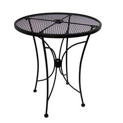 Bistro Bar Height Table 36-Inch Black Round Counter Patio Outdoor Furniture