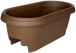 Bloem 477245-1001 Deck Rail Planter Chocolate 24-In.