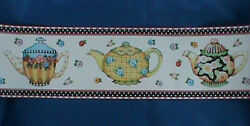 Mary Engelbreit Teapots Decorative Wall Border Pre Pasted Washable Strippable $6.99