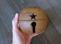 Large 4.7 inch Rusty Jingle Bell Primitive Decor Rustic Country Winter Holiday $12.99