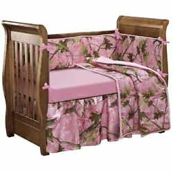 HiEnd Bedding Accents Realtree Oak Camo Crib Set Pink Fast Sale Free shipping