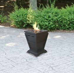 Table Top Fireplace Outdoor LP Gas 10000 BTU Stainless Steel Burner Patio Deck