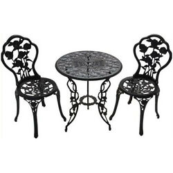 Bistro Furniture Set Table 2 Seat Outdoor Garden Dining Chair Patio Balcony Deck