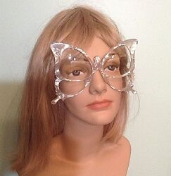 Authentic Rare Vtg Anglo American Pearlized Oversize Butterfly Frame Eyeglasses