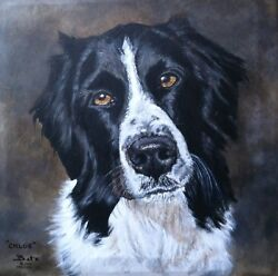 CUSTOM DOG PORTRAIT PAINTING by artist BETS 24