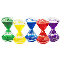 Diamond shaped Colorful Liquid Hourglass Motion Bubbler Holiday Christmas Toy $5.99