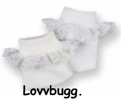 White Socks Lace for American Girl 18quot; Baby 15quot; Doll Clothes LOVVBUGG 🐞 $2.49