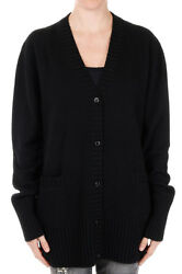 DOLCE&GABBANA New Woman Black Cashmere Cardigan Made in Italy NWT