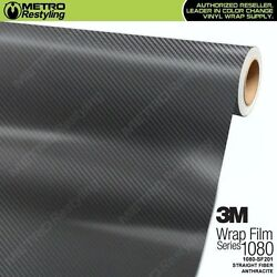 3M 1080 SF201 ANTHRACITE STRAIGHT FIBER Vinyl Vehicle Car Wrap Decal Sheet Roll