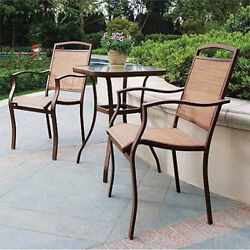Set Bistro Outdoor Patio Chairs 2 Chair Table 3 Furniture Folding Piece Garden