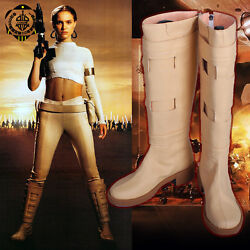 Padme Queen Amidala Boots Tan Beige Cosplay Costume Shoes 5 12 Wars Star $64.99