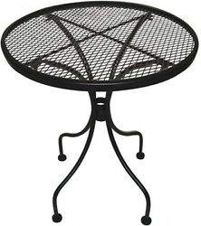 End Table Patio Charleston Wrought Iron Furniture Covered Deck Chairs Outdoor