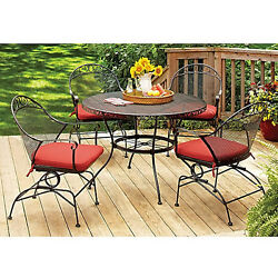 Patio Garden 5 Piece Bistro Dining Set Backyard Furniture Outdoor Chairs Table