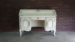 Secretary Desk Desk Vintage Desk French Provincial Secretary Desk by Bodart $1995.00