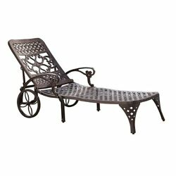 Home Styles Biscayne Chaise Lounge Chair Bronze