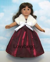 Elegant Red Opera Night Dress Gown & Fur for 18 inch American Girl Doll Clothes $16.95
