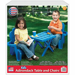 Adirondack Chairs For Kids Patio Set Activity Table 2 Chairs Outdoor Outdoor