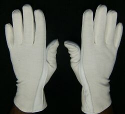 White PILOT GLOVES Leather amp; NOMEX AIR FORCE Fire Resistant Dress WHITE SMLXL $19.99