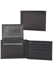 Scully Wallets Mens Black Italian Leather Removable ID Slim Billfold